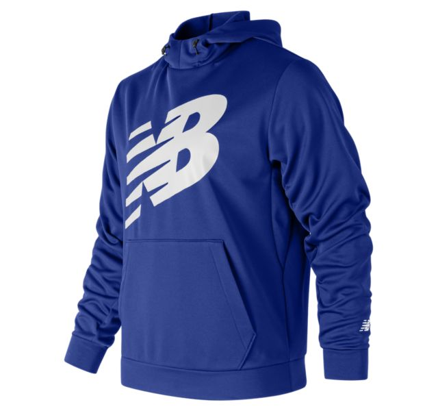 NEW BALANCE Men's Graphic NB CoreFleece Hoodie Royal/White