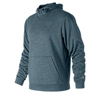 NEW BALANCE Men's Embossed NB CoreFleece Hoodie Green/Silver