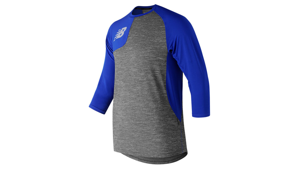 NEW BALANCE ASYM 2.0 RIGHT 3/4 SLEEVE ROYAL