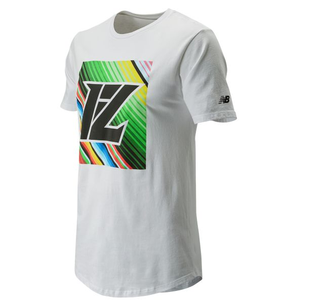 New Balance MT91730 Lindor Men's Graphic Tee WHITE