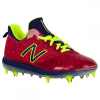 New Balance Lindor Elite Boy's Low TPU Molded Baseball Cleats - Red