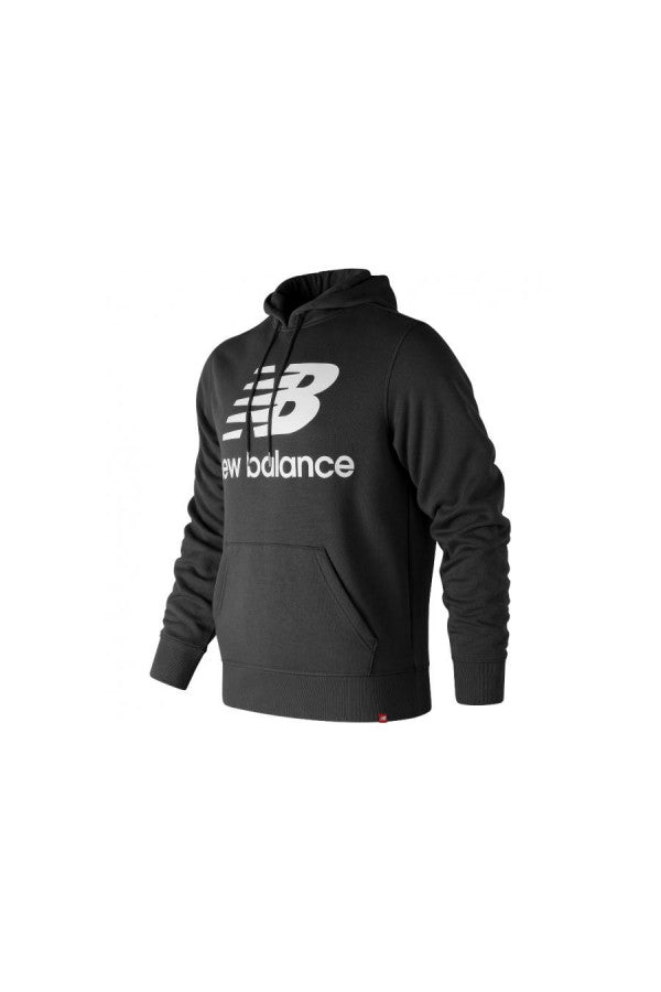 New Balance MT83528 Essentials Brushed Pullover Hoodie (Men's) BLACK