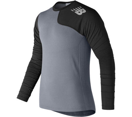 NEW BALANCE MT7370L Seamless X4J Asymmetrical Left Pullover (Men's) Black