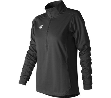 NEW BALANCE WOMEN'S LIGHTWEIGHT SOLID HALF ZIP BLACK