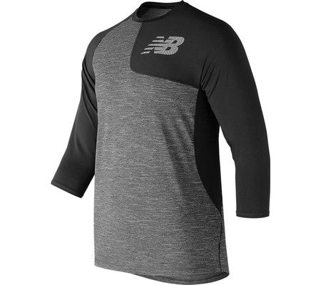 NEW BALANCE ASYM 2.0 LEFT 3/4 SLEEVE BLACK