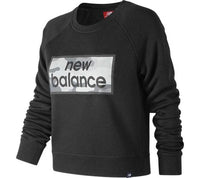 NEW BALANCE Women's Essentials Linear Crew BLACK