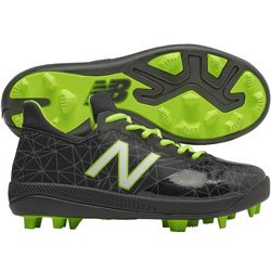 New Balance Lindor Elite Boy's Low TPU Molded Baseball Cleats - Black