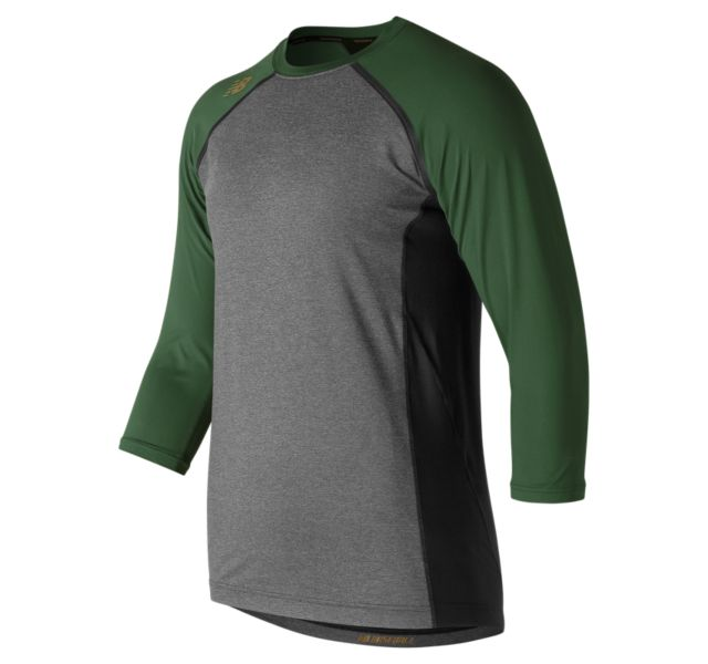 NEW BALANCE Men's 4040 Compression Top 3/4 SLEEVE TMMT650 Dark Green