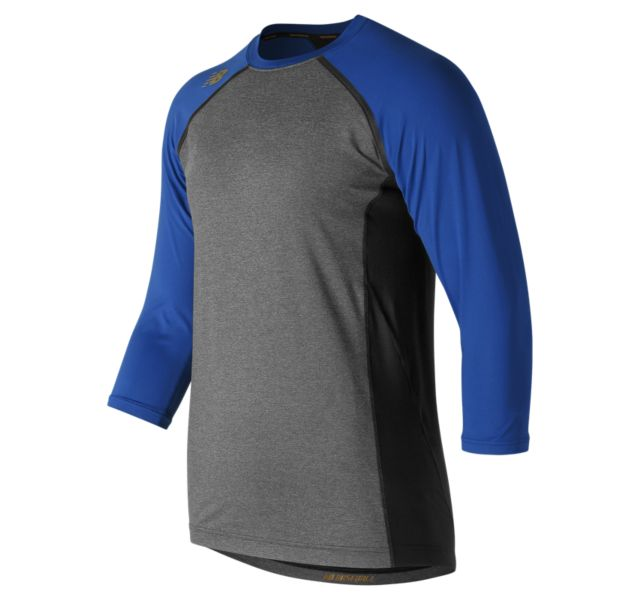NEW BALANCE Men's 4040 Compression Top 3/4 SLEEVE TMMT650 Royal