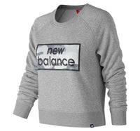 NEW BALANCE Women's Essentials Linear Crew GREY