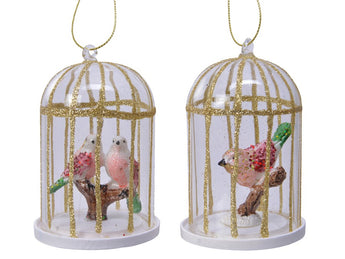 Glass Birdcage With Bird