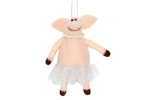 Pig In Tutu With Pearls