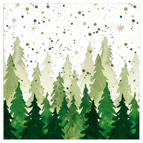 'Green Tree Silhouettes' - Pack of 20