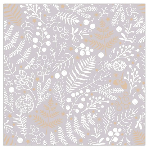 'Berries & Leaves' Grey - Pack of 20