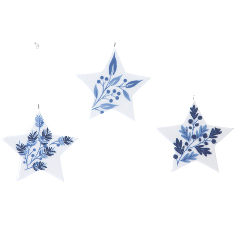 Set of 3 Ceramic Stars