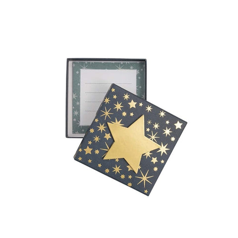 Small Gift Box - Gold Star Design