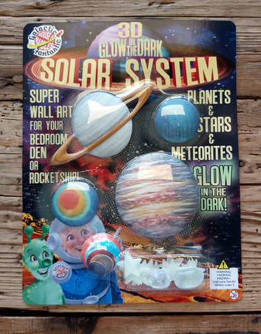 3D Glow In The Dark Solar System