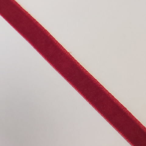 Christmas Red Velvet Ribbon - By The Metre