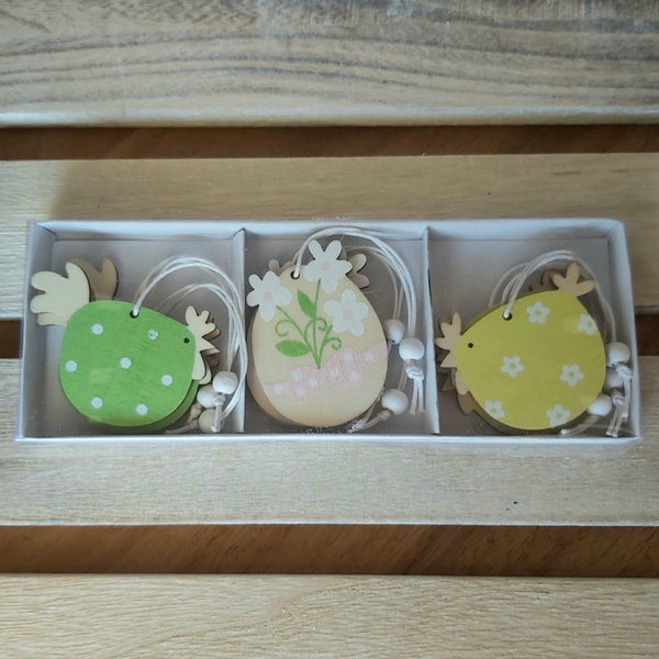 Pack of 9 Easter Decs - Chicks