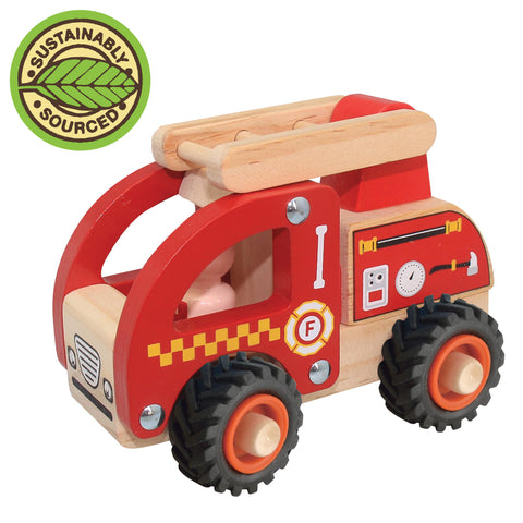Wooden Brrm Brrm - Fire Engine