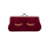 Burgundy Red Cosmetic Bag