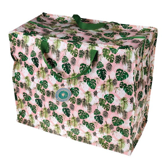 Tropical Leaf Jumbo Storage Bag
