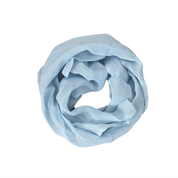 Pure Linen Scarf - Light Blue