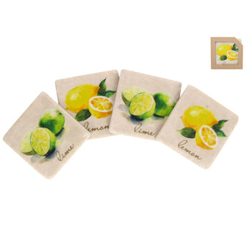 'Lemon & Limes' Set of 4 Coasters
