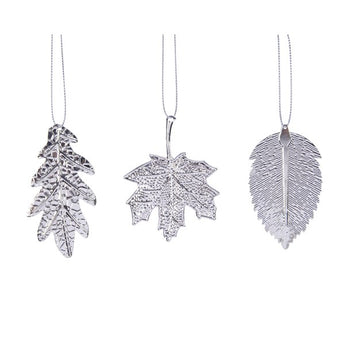 Set of 3 Silver Leaves