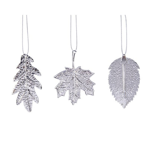 Set of 12 Silver Leaves