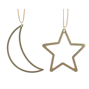 Gold Cut Out Moon & Star