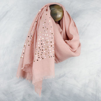 Pink Scarf With Sequins