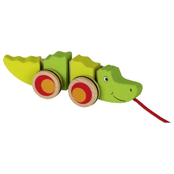 Pull-Along Wooden Crocodile