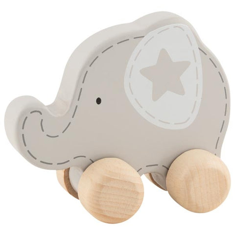 Wooden Push-Along Elephant
