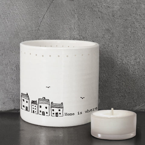 Tealight Holder - Home Is Where The Heart Is