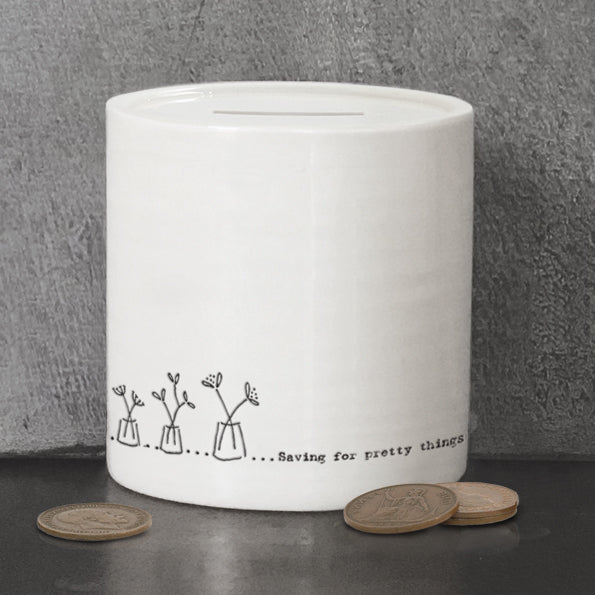 Porcelain Money Box - Saving For Pretty Things