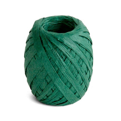 Raffia Ribbon - Dark Green