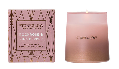 Geometric - Rock Rose & Pink Pepper Candle
