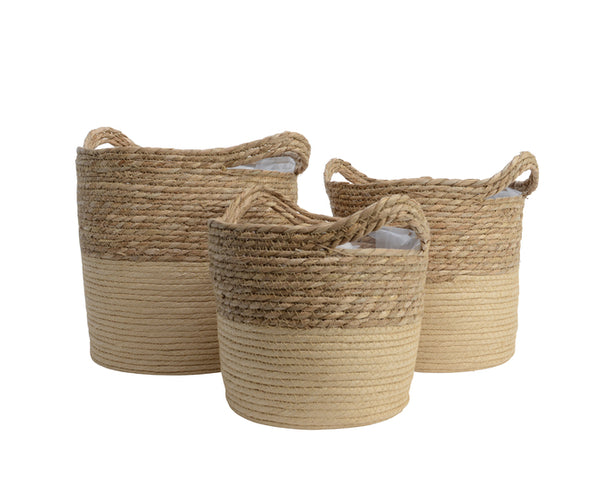Round Baskets With Handles