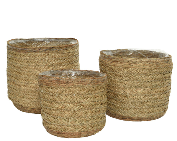 Seagrass Round Planters