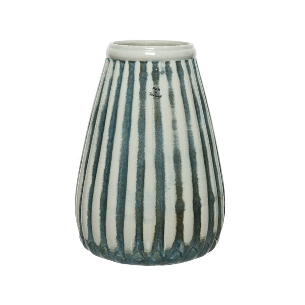 Green Striped Vase - Large