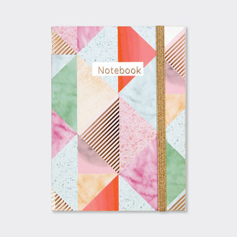 A6 Notebook - 'Marble Geometric Pattern'