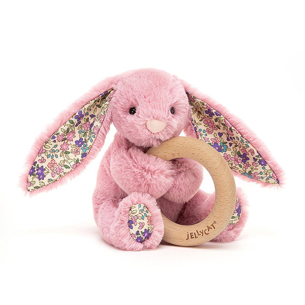 Blossom Tulip Bunny With Wooden Ring