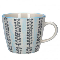 Stripes & Berries Mug - Blue