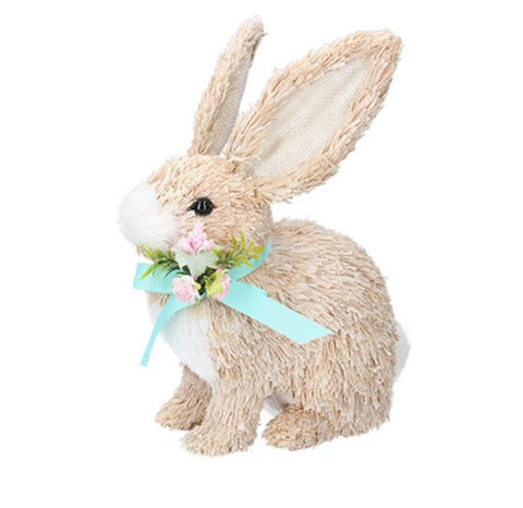 Bristle Bunny With Flowers
