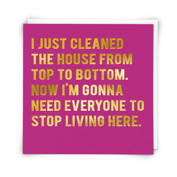 'Clean House' Card