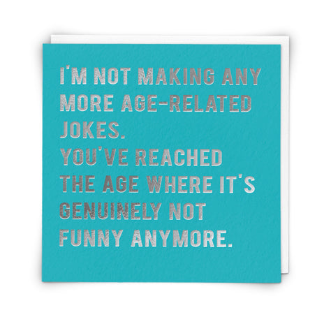 'Age-Related Jokes' Card