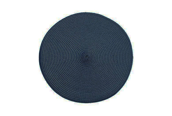 Circular Ribbed Placemat - Blue