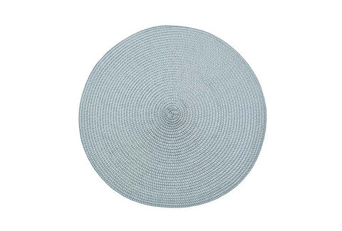 Circular Ribbed Placemat - Light Grey