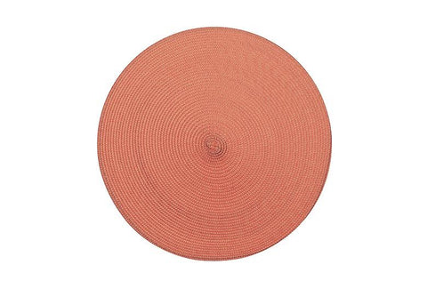 Circular Ribbed Placemat - Terracotta